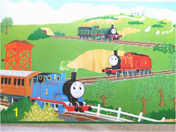 Roll Thomas the Tank Engine Wallpaper by TextilesandThings 570x428