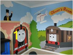 Thomas the tank engine mural by me JJmurals