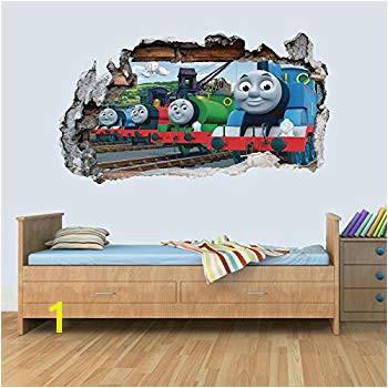 GNG Train Friends 3D Smashed Wall Art Decal Vinyl Sticker Boys Girls Bedroom Trains S