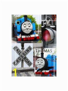Limited Edition Thomas the Train Wall Print Wall Collage Wall Art Digital Wall