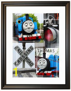 Limited Edition Thomas the Train collage with frame Wall Collage Wall Art Digital Wall