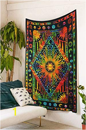 Future Handmade Mandala Multi color Sun moon tie dye twin tapestry wall tapestry hippie tapestry wall hanging mandala beach throw boho tapestries bohemian
