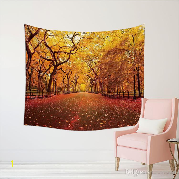 Home Decor Wall Tapestry Modern Beautiful Trees 3D Printing Art Hanging Carpets European American Living Room Art Wall Blankets Tie Dye Tapestry Wall