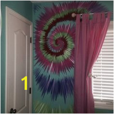 Tie dye wall for a pre teen Room Wall Painting Mural Wall Art
