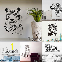 tiger decal The New Animal Leopard Creative Personality Decorative Vinyl Stickers Tiger Wall Decal Art Mural Home Decor