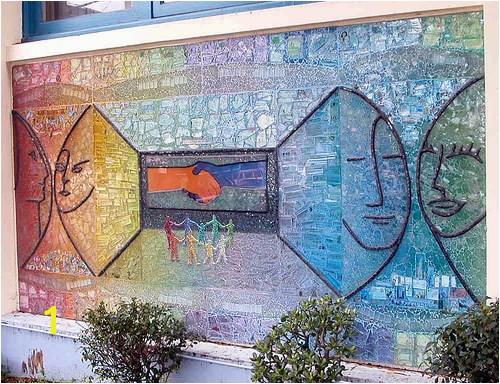Mosaic Artist – Ellen Blakeley – Tempered Glass Mosaic Mural – San Francisco California