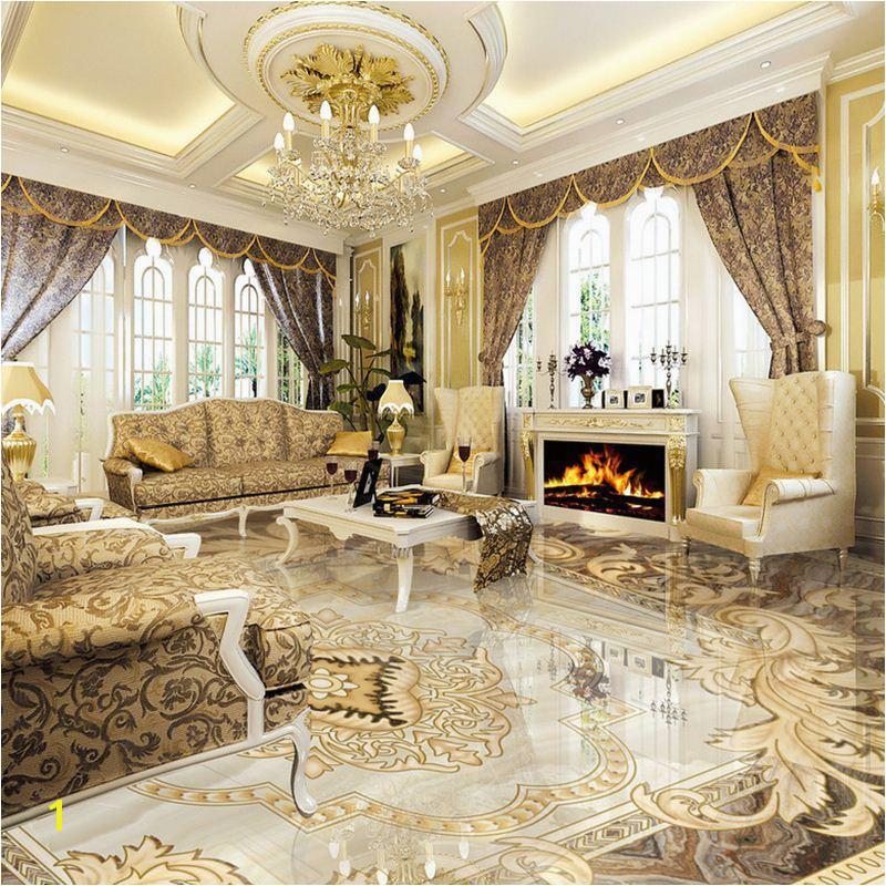 2019 European Style 3D Floor Tiles Mural Marble Wallpaper Living Room Hotel Wear Non Slip Waterproof Self Adhesive Luxury Wall Papers From Good co ltd