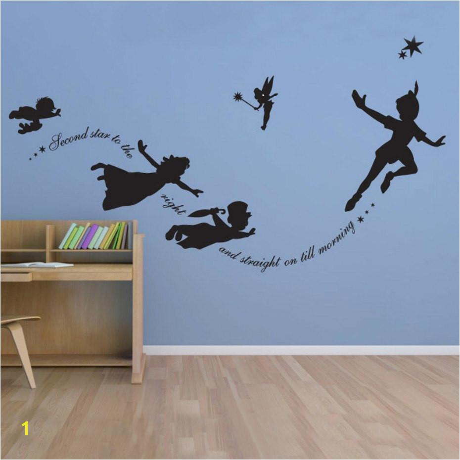 Tinkerbell Murals Cartoon Fantasy Fairy Magic Tinkerbell Vinyl Wall Sticker Decal Art
