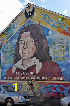 Bobby Sands mural in the Falls Road Catholic neighborhood of West Belfast IRELAND