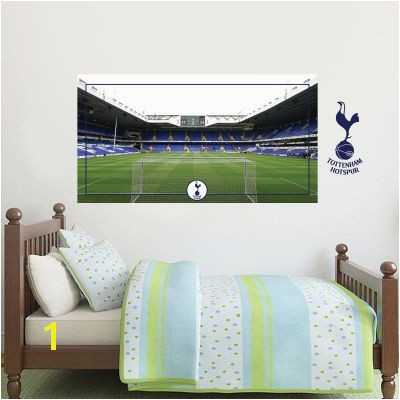 Tottenham Hotspur Football Club Stadium Behind The Net Mural & Spurs Wall Sticker Set wall