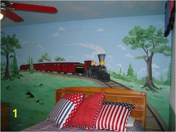 Train Murals for Walls Old Train Wall Murals Bedroom Ideas Harry S Bedroom