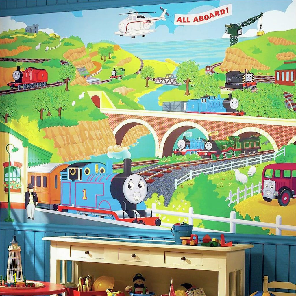 Thomas the Tank Engine Removable Wallpaper Mural Multicolor