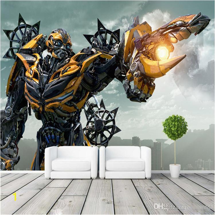 Transformers Bumblebee Wall Mural wall art Wallpaper Designer wall stickers Children s room Bedroom Custom