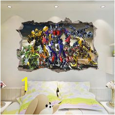 Transformer Wall Stickers Living Room Murals Kids House Wall Stickers Wall Decals