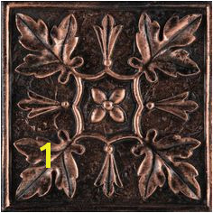 "Camelot 4"" x 4"" Arthur Deco in Copper Copper Backsplash Kitchen Backsplash"