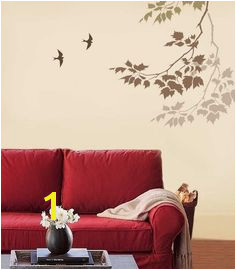 Wall Stencil Sycamore Reaching Branch Stencils for easy fast wall decor