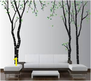 living room tree wall stencils Bing
