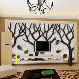 3d Room Wallpaper Custom Mural Non woven Wall Sticker Tree Trunk 3D Printed Bedroom TV Wall Painting Wallpaper for Walls