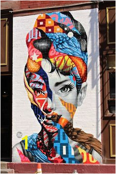 Audrey Hepburn Graffiti in Little Italy New York City Street Art Street Artists Art Urban Art Modern Art Urban Artists Mural Graffiti travel Schomp MINI