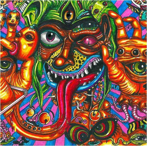 psy doodle Trippy Random Graffiti Acid Trip Art Art