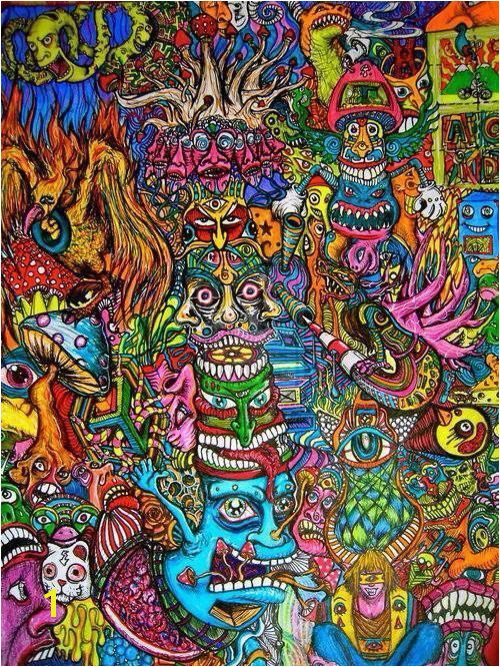 art trippy creepy hippie s weed