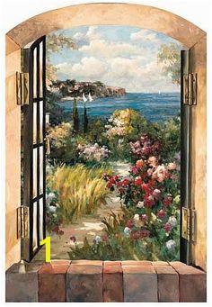 trompe l oeil wallpaper mural Sea Murals Wall Murals Trompe L Oeil Mural