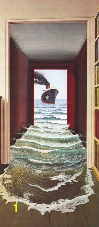 Le Secret Trompe l oeil Door Mural