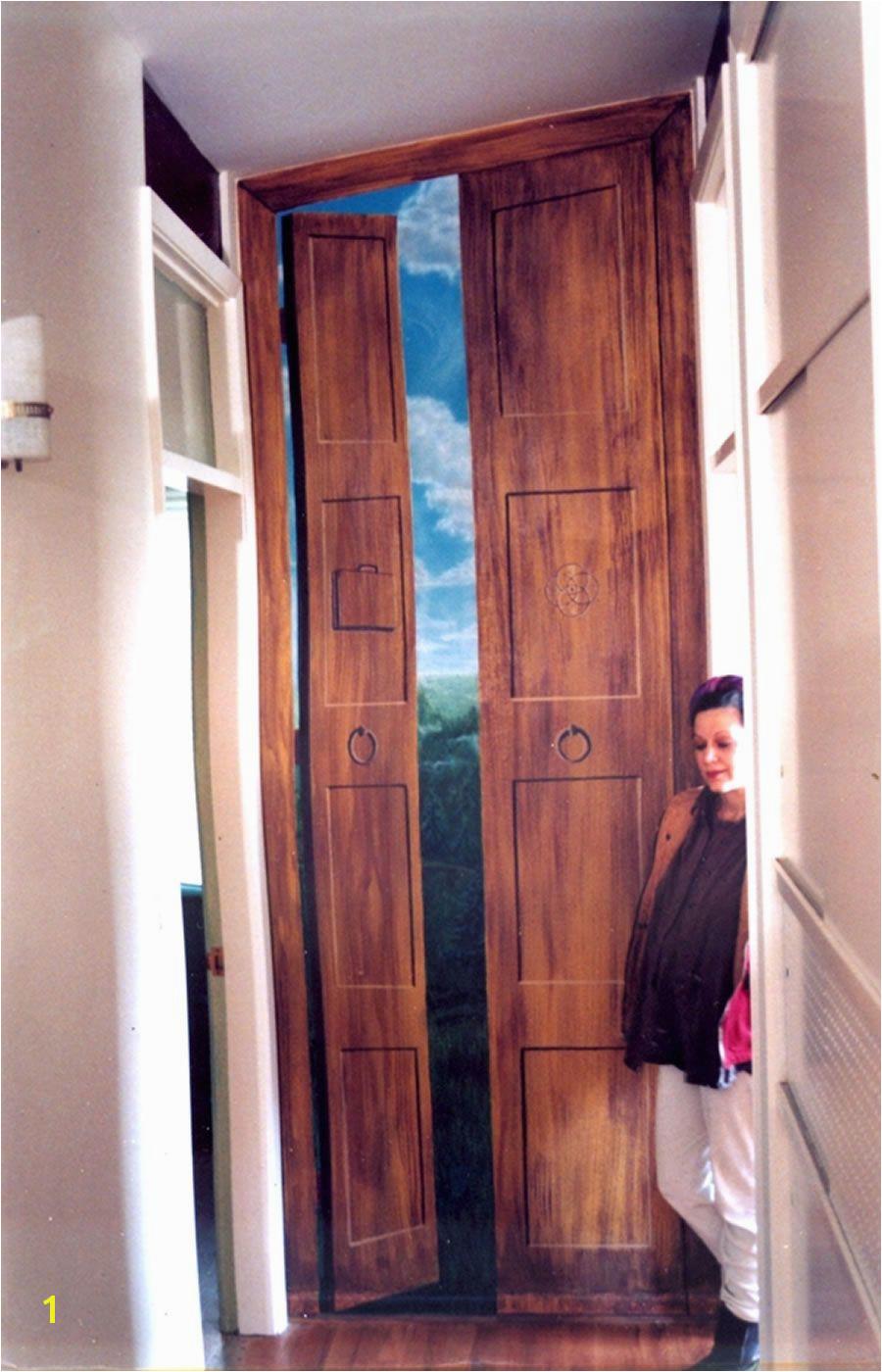 TROMPE L OEIL DOORS Door Murals Mural Wall Art Tile Murals