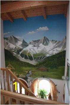 Wandmalerei und Illusionsmalerei Landschaft Atelier Izek Robert Przysucha · Murals & Trompe L oeil