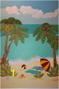 Tropical Murals Paintings 91 Best Beach Mural Images