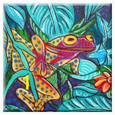 tropical ceramic tile