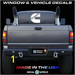 Truck Rear Window Murals 7 Inch Cummins Decal Vinyl Window Dodge Ram Sticker Diesel Rear