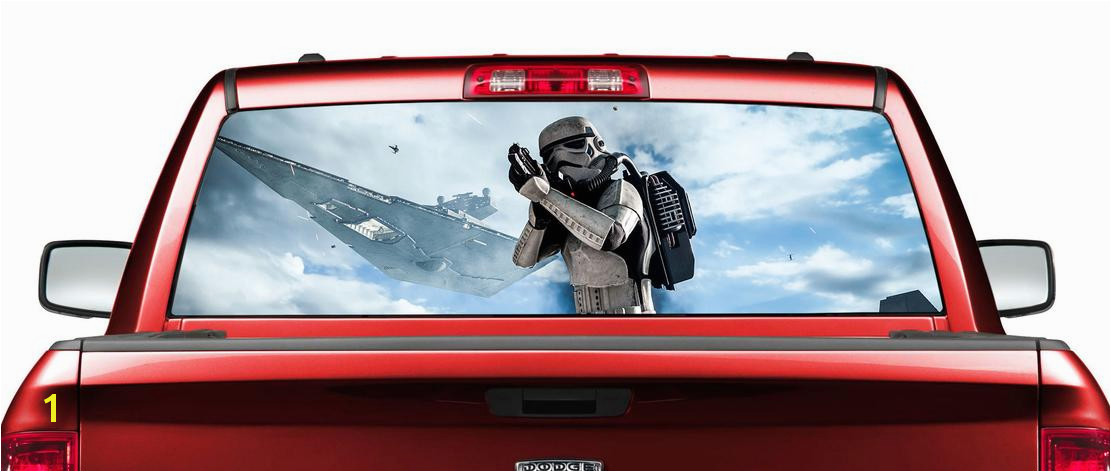 Product star wars stormtrooper movies rear window decal sticker rear window murals for trucks