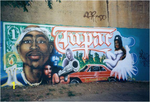 Lady Pink Tupac mural 2000