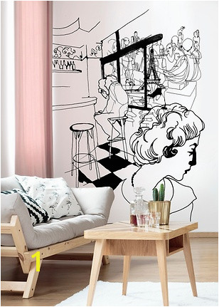 Stina Wirsén s fashion drawings now available as wallpapers at wall
