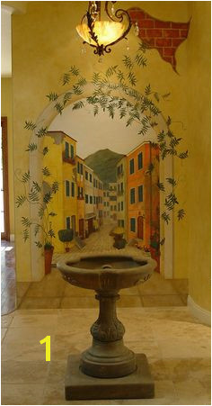 Di s Indoor Tuscan Mural Painted for a friend