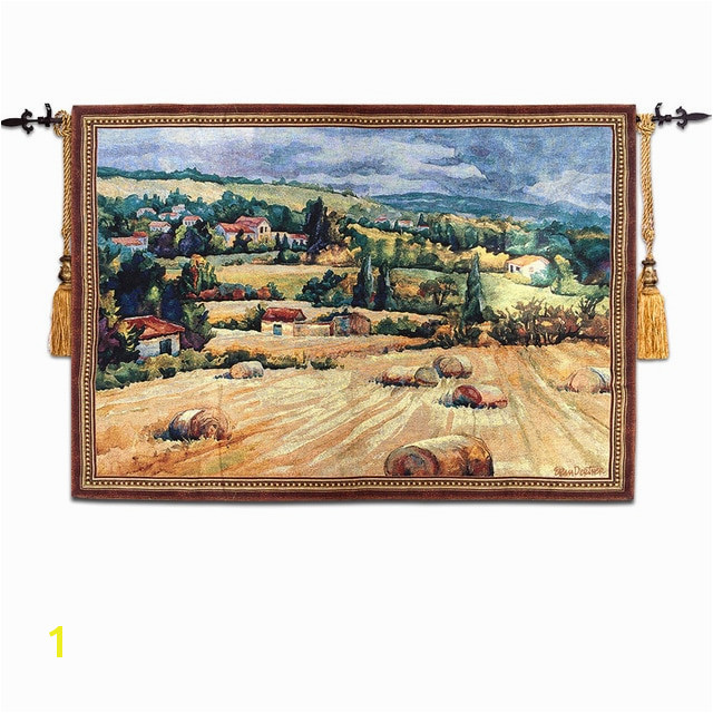 90 125cm World famous wall paintings Tuscan countryside antique mural jacauard fabric picture tapestry wall hanging