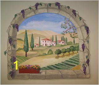 Artistic Murals Tuscan window mural