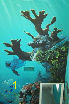 under the sea mural idea as seen on