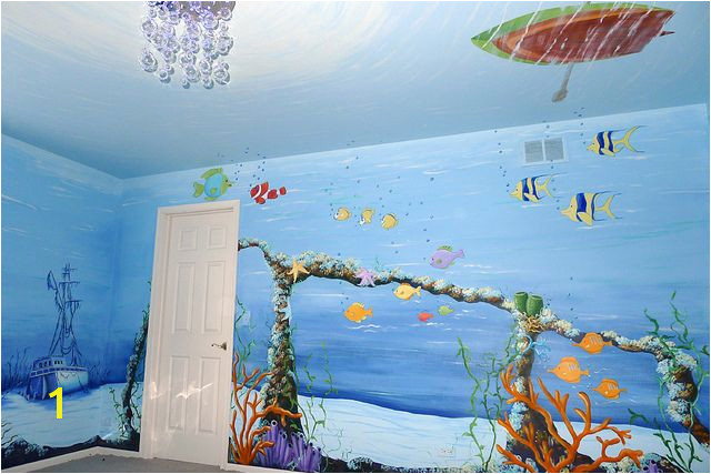 underwater mural for baby room