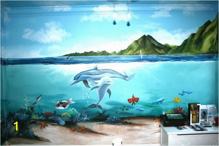 Underwater Bedroom Mural Idea in Berkeley CA