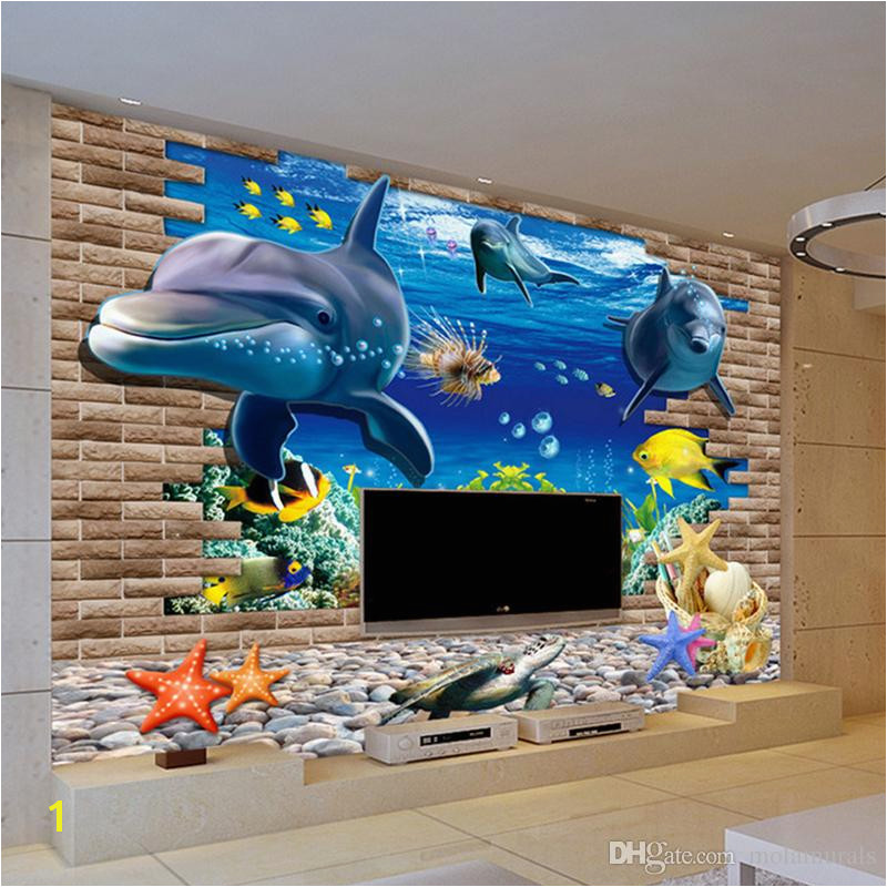 3d Wallpaper Mural 3D Seabed Fish Wall Sticker Nursery Wall Decor Tattoos Baby Fish Ocean Underwater World Wallpaper Home Decor Desktop Wallpapers In Hd