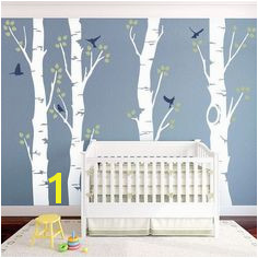 Birch tree and Birds look for painting on my wall Birch Tree Wall Decal Birch