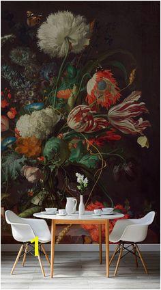 Modern Victorian large scale floral wallpaper scandinavian dining room Wallpaper Murals Kitchen Wallpaper Room
