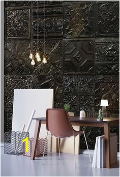"""New """"Tin Tiles"""" wall murals collection by KOZIEL ceiling tiles accent wall victorian wallpaper patchwork"""