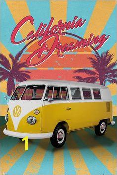 VW Camper Cali Retro Maxi Poster