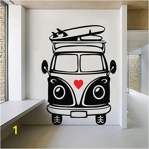 VW Camper Van Wall Decal sticker vinyl decor mural bedroom kitchen art hippie