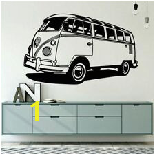 VW Camper Van Surf Living Room Bedroom Wall Art Vinyl Decal Sticker V249