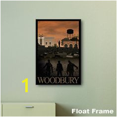 Walking Dead Woodbury Travel Print wall art by wantedbadly Floating Frame Wall Prints