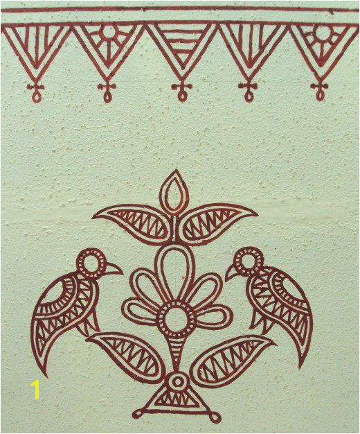 Wall Hanging Murals India Bheenth Chitra A Unique Indian Tribal Wall Art Style Step by Step